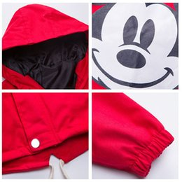 boys winter bomber jacket Canada - Benemaker Spring Toddler Mickey Jackets For Boy Girl Clothes Children Hooded Coats Baby Bomber Windbreaker Kids Outerwear YJ167