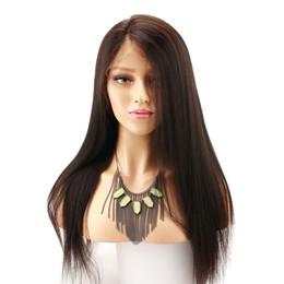 $enCountryForm.capitalKeyWord UK - Light Yaki Peruvian Straight Lace Wig Baby Hair Virgin Pre Plucked Glueless Full Lace Human Hair Wigs Yaki Straight For African Ameican