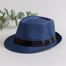 162580caaff693 8 Colors available custom straw panama fedora sun hat with black band  summer felt hat for adult or child