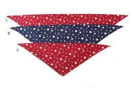 $enCountryForm.capitalKeyWord UK - Dog Star Triangle Bandanas Adjustable Pet Dog Cat Neck Scarf Tie Bowtie Necktie Bandana Collar Neckerchief Fashion Dog Accessories Grooming