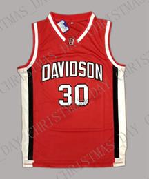 Großhandel Günstige benutzerdefinierte Steph Curry 30 Davidson College Wildcat genäht Basketball Jersey genäht Passen Sie jede Name-Nummer an