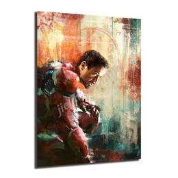 oil art nude man UK - Iron Man Avengers Movie Posters Painting And Prints Decorative Wall Art Pictures For Living Room Home Decor