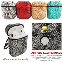 $enCountryForm.capitalKeyWord Australia - Mini Earphone Case For iPhone Airpods Cover Storage Box PU Leather Protective Portable Headset Pouch Animal Snake Skin