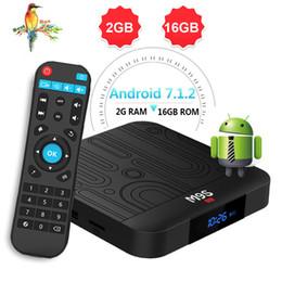 Android Set Top Box Quad NZ - 1 PCS 2019 New Hot M9S W1 Android 7.1 TV BOX 2GB 16GB Amlogic S905W Quad Core Set-top box H.265 4K 2.4GHz WiFi IPTV Box Better T9 H96 MAX