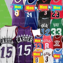 Wholesale Allen 3 Iverson Jersey Vince 15 Carter Jersey Michael Larry 33 Bird Patrick 33 Ewing 32 ONeal Men Basketball Jerseys