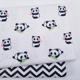$enCountryForm.capitalKeyWord Australia - Kids Panda Ripple 100% Cotton print fabric DIY sewing uphostery craft for Baby&Children Quilting Sheets Dress Material
