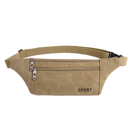 $enCountryForm.capitalKeyWord UK - Canvas men's multi-function sports waist bag running mobile phone pockets Messenger bag female chest bags mini