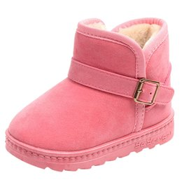 Baby High Tube Boots Winter Fashion Child Girls Snow Shoes Warm Plush Soft Bottom Baby Girls Boots Winter Snow Boot For Baby Lights & Lighting