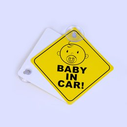 baby board sticker car Canada - Cheap Car Sticker Baby ON BOARD Warning Safety Sign Stickers Vinyl Decal Car Styling For Body Door Window Stickers