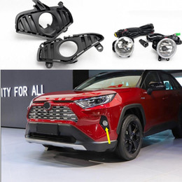toyota rav4 fog lamps NZ - Car OEM Style Directly Replacement Fog Lamp Lights w Bulb+Switch+Wire+Bezel 1Set For Toyota RAV4 2018 2019 2020