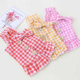 winter clothes for chihuahuas 2020 - Plaid Dog Dress Puppy Pet Clothes for Small Medium Dogs Dresses Chihuahua Dog Clothing for Dogs Costume Shih Tzu Disfraz