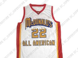 f4cd39c5eb39 Carmelo Anthony  22 McDonald s All American Basketball Jersey White Stitched  Custom any number name MEN WOMEN YOUTH BASKETBALL JERSEYS