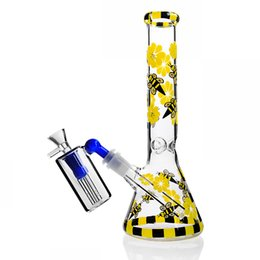 beaker ash catcher UK - 10.6 Inchs Tall Bong Heady Glass Bongs Water Pipes Chicha Beaker Base Bong Bubbler Water Bongs Dab Rigs With 14mm Ash Catcher