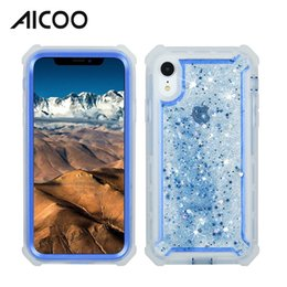 $enCountryForm.capitalKeyWord Australia - AICOO Bling Sequins Epoxy Space Phone Case Transparent Shockproof Flash Powder Case for iPhone 11 5.8 6.1 6.5 Samsung S10 5G Stylo5 OPP