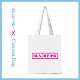 $enCountryForm.capitalKeyWord Australia - Kpop BLACKPINK Canvas Bag Handbag BLACKPINK JISOO JENNIE ROSE LISA Fashion Shoulder Bags Shopping Bag K-pop Fans Gifts