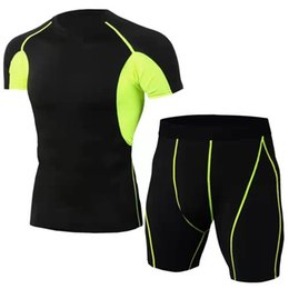 $enCountryForm.capitalKeyWord Australia - Men's suit tight-fitting fitness running racing mountain bike cycling sportswear stretch quick-drying clothes T-shirt short sleeve + shorts