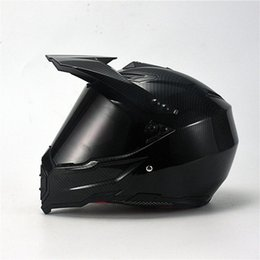 dirt bikes racing UK - 2019 New Hot Sell Adult Motocross Helmet ATV Dirt Bike Helmet Racing Style 716; MaBlack Carbon Fiber Grain ABS Material wvWb#