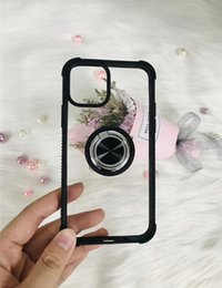 $enCountryForm.capitalKeyWord NZ - 360 Ring Holder Clear Magnetic Cell Phone Cases For Samsung Galaxy Note 10 S10 Plus A50 A70 Iphone 11 Pro Max Armor Case