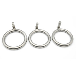 Product Chastity Australia - Stainless Steel Male Chastity Cage with Round Base Ring For Most of Sex Products R1