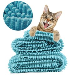 $enCountryForm.capitalKeyWord NZ - Ultra Absorbent Pet Bath Towels Microfiber Chenille Dog Blankets Durable Quick Drying Washable Prevent Mud Dirt Indoor and Outdoor Use