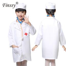 $enCountryForm.capitalKeyWord Australia - Nurse Cosplay Costume for Girls Doctor Costume Nurse Uniform Clothing Halloween for Girls Kids Party With Hat