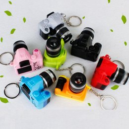 amazing keychains UK - Creative camera keychains With sound LED Flashlight Key chain Fancy toy Key Ring Amazing gift Keychain