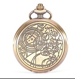 $enCountryForm.capitalKeyWord Australia - Brand Vintage Bronze Doctor Who Quartz Pocket Watch Best Gift Necklace Pendant Steampunk Watch