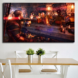 $enCountryForm.capitalKeyWord Australia - Geralt The Hipster Of Rivia The Witcher 3 Wild Hunt Canvas Posters Wall Art Painting Picture Modern Home For Living Room Decoration Artwork