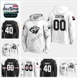 Black Wild Jersey Australia - 2019 All-Star Game Hoodie Jersey Minnesota Wild 3 Charlie Coyle 9 Mikko Koivu 11 Zach Parise 20 Ryan Suter 64 Mikael Granlund