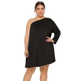 $enCountryForm.capitalKeyWord UK - fashion2019 Enlarge Code Sexy Women's Clothes Oblique Shoulder Easy Dress Lady skirt