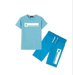 Big Little Shirts Australia - 2019 Little Kids Sets 2-7T Childrens O-neck T-shirt Short Pants 2Pcs sets Boys Girls Pure Cotton Big Printing Logo Children Summer Sets