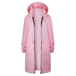 $enCountryForm.capitalKeyWord Australia - New Autumn Winter Long Cardigan Women Solid Color Hooded Coat Fall Warm Thick Poncho Female Zipper Fashion Coats Plus