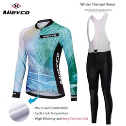 Women long sleeve fleece cycling jersey online shopping - Women s Winter Thermal Fleece Cycling Sets Cycling Suit Bike Jersey Bicycle Set Clothing Long Sleeves maillot ciclismo