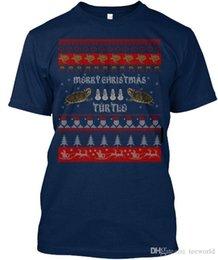 Men S Top Christmas Gifts Australia - Great gift Turtle Ugly Christmas Sweater T-shirt Élégant T-shirt Élégant T-shirt Men Top Design Short Sleeve Fashion Custom 3XL Couple Tee S