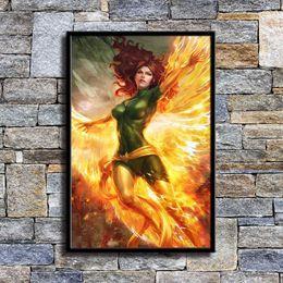 $enCountryForm.capitalKeyWord Australia - Marvel X Men Jean Grey,1 Pieces Home Decor HD Printed Modern Art Painting on Canvas (Unframed Framed)