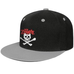 Cool Skull Caps For Men Australia - Rob Zombie skull logo Gray for men and women baseball flat brim cap cool fitted golf blank fitted personalized unique classic flat brim ha