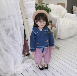 $enCountryForm.capitalKeyWord Australia - 2019 Autumn New Arrival korean version cotton pure color casual fashion all-match short Denim Jacket for cute sweet baby girls