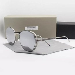 Uva Uvb sUnglasses online shopping - NEW Alloy Thom brand sunglasses TB106 UVA UVB protection decoration for men and women Fashion with Original case oculos
