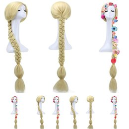 Big Braided Wigs Australia - New COS anime wig Magical long hair princess Le Pei big braid wig double twist wig Party Supplies T8C013