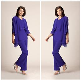 f45f623b49704 Discount bride jumpsuit - 2019 Vintage Formal Mother Of The Bride Pant Suits  Summer Formal dresses
