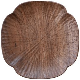 modern table placemats Australia - 1Pcs Durable Walnut Wood Coasters Placemats Decor Heat Resistant Drink Mat Home Table Coffee Cup Pad Four-Leaf Clover Coas