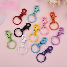 $enCountryForm.capitalKeyWord Australia - Hot Sale Fashion Candy Colors Keychain DIY Bag Pendant Key Chain Holder Car Key Rings Men Women Chain 1pcs Simple Cool Girl