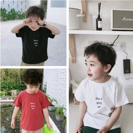 Letter Pattern For Shirts Australia - Baby Girls Boys T-shirt Short Sleeve Letter Pattern T-shirts for Boys Cotton Children Clothes Summer Tops Wholesae and Dropship