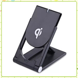 Wholesale samsung fold for sale - Group buy Qi Wireless Charger for Iphone X Plus Dock Folding Phone Holder For Samsung Plus S8 Wireless Charging Pad With Retail Package MQ50