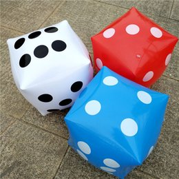 Funny Party Decorations Australia - Big Inflatable Dice Pool Toy Funny Party Gift Parent-Child Interactive Dice Game Toys Party Decoration QW9214