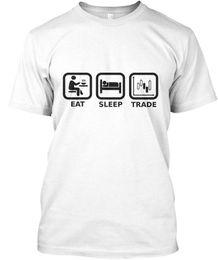 Ingrosso Forex Trader - Eat Sleep Trade T-shirt standard da uomo