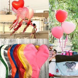 36 inches helium balloons 2019 - Colorful Blow Up 36 Inches Oversized Heart Love Balloon Helium Inflable Big Latex Balloons for Wedding Birthday Party De