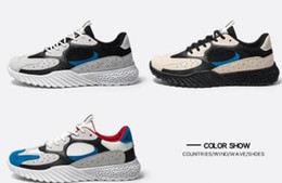 Running shoes lowest pRice online shopping - 2019 kanye salt Blush Utility Black Desert Rat Super Moon Yellow running shoes sneaker trainer with box price