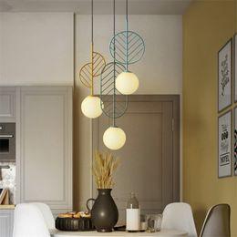 Kitchen Cafe Australia - Nordic Simple Macarons Leaf Style LED Pendant Lamp Modern Creative Glass Hang Light Kitchen Restaurant Bar Cafe Bedroom Lighting