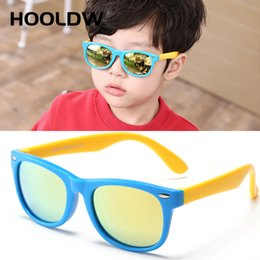 red eyewear kids Canada - HOOLDW Cool Colorful Kids Sun Glasses TR90 Girls Boys Polarized Sunglasses Silicone Flexible Baby Children UV400 Mirror Eyewear